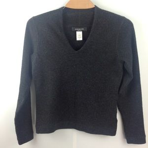 Jones New York 100% Cashmere Sweater in Charcoal